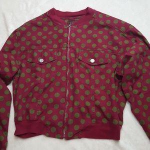 Vintage Esprit 1980's polka dot crop jacket.